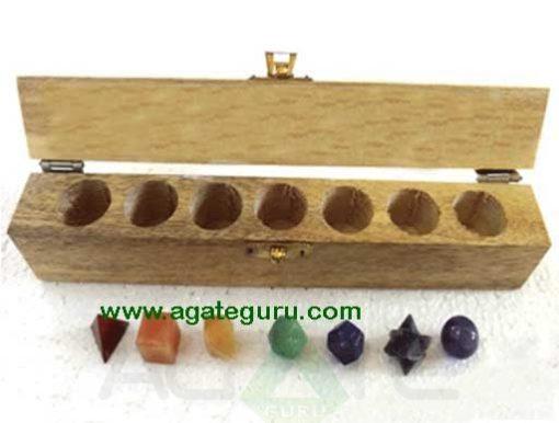 7 piece sacred geometry chakra set