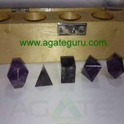 Amethyst 5pcs Geometry set with wooden box
