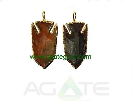 Eletroplated arrowhead pendant