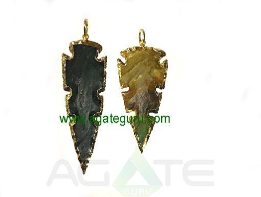 Eletroplated arrowhead pendant.