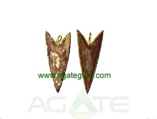 Eletroplated arrowhead pendant,,