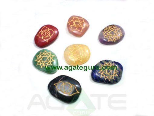 Engraved Chakra Reiki Set