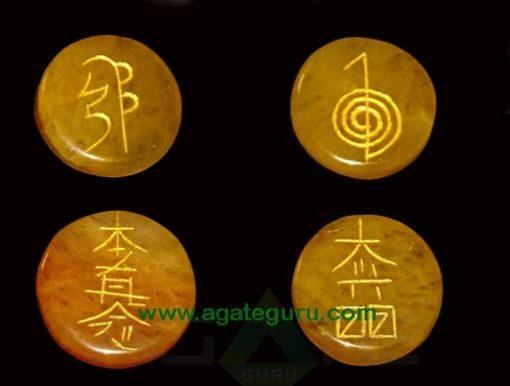 Golden Quartz Reiki Disc Set