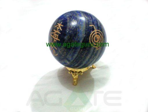 Lapis Lazule Engrave USAI Reiki sphere