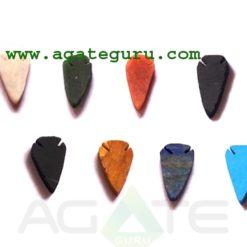 Mix Gemstone Flat Arrowheads