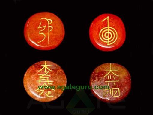 Red Carnelian Reiki Disc Set