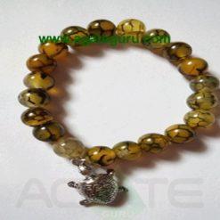 Squama rock/Dragon Bone with Turtle Beads Bracelets