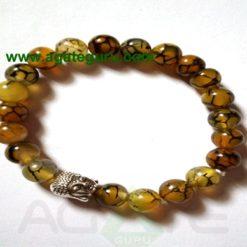 Squama rock/Dragon Bone with Buddha Beads Bracelets