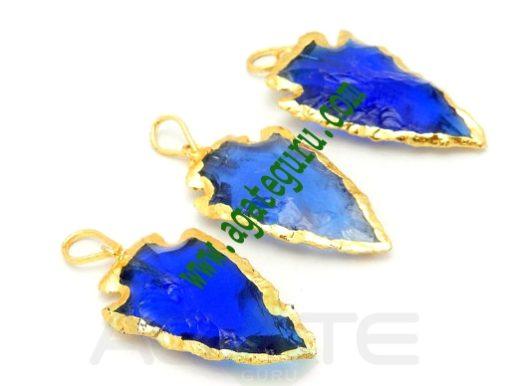 Blue-Glass-Arrowhead-Pendan