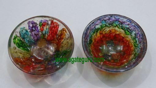 Chakra Orgone Bowls Size 3 inch : Wholesaler Manufacturer