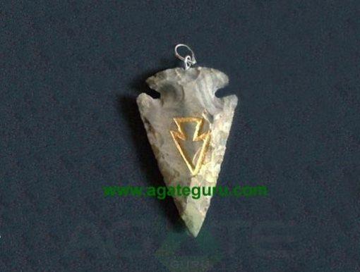 Engraved Arrowhead Pendant