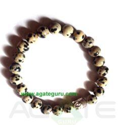 Dalmation Jasper With Buddha Face Bracelet. : India wholesaler Manufacturer