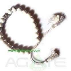 Howlite With Buddha Face Bracelet