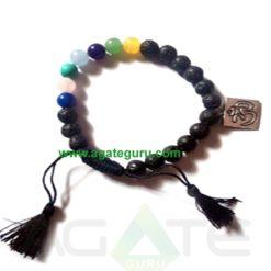 Lava 7 Chakra With Om Bracelet : India Chakra Bracelet wholesaler