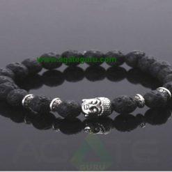 Lava Stone beads with Buddha Beads Bracelet : Wholesaler Manufacturer
