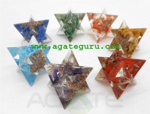 7 Chakra Merkaba Star Set Sacred Geometry Crystal Healing