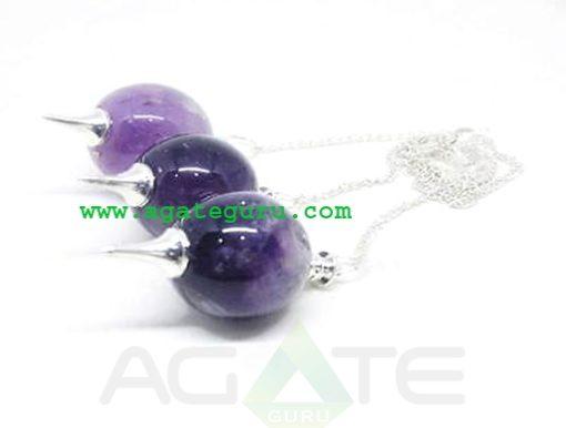 Amethyst Dowsing Ball Pendulum : Pendulum Wholesaler
