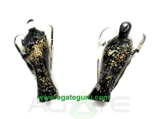 Black Tourmaline Orgonite 2inch Angels : Orgone Angels : Healing Orgone Crystals