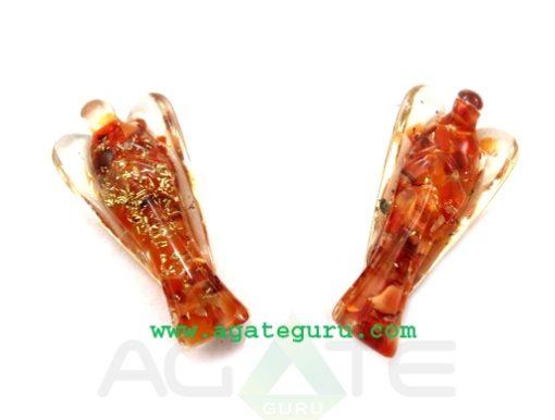Carnelian Orgone 2inch Angels : Orgone Angels : Healing Orgone Crystals