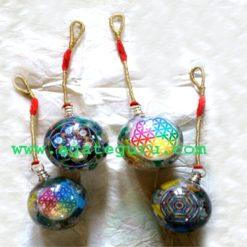 Chakra Flower Of Life Orgone Ball Pendulum