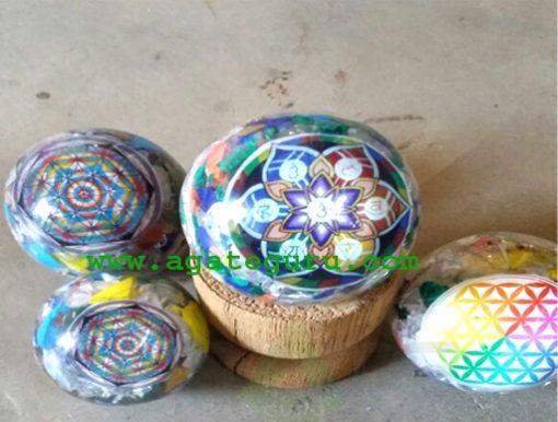 Chakra Flower Of Life Orgone Balls