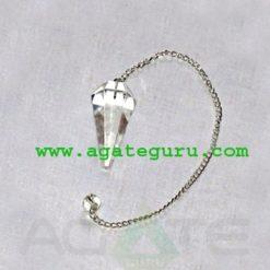 Clear Crystal Quartz Pendulum : Wholesale Gemstone Pendulums Manufacturer