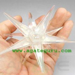 Crystal Quartz 12 Point Merkaba Star Wicca Reiki Healing