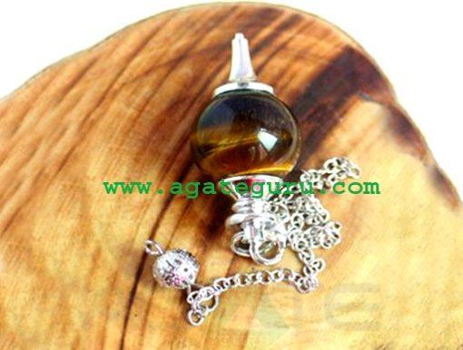 Tiger Eye Ball pendulum : New Age Pendulum Wholesaler