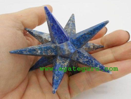 12 Point Merkaba Star Lapis Lazuli Sacred Geometry