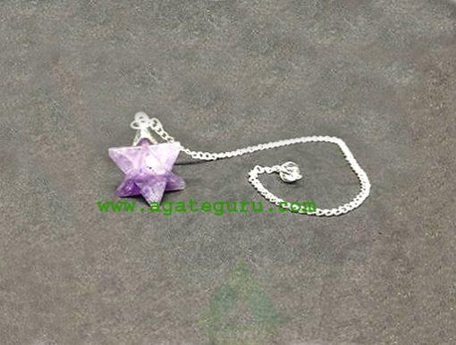 Amethyst Merkaba Dowsing Pendulum : Merkaba Star Wholesaler