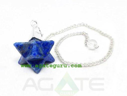 Lapis Lazuli Merkaba Dowsing Pendulum : Merkaba Star Wholesaler