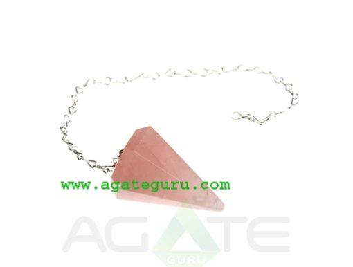 Rose Quartz Crystal Pendulum Dowser