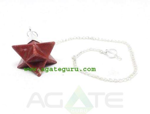 Red Jasper Merkaba Dowsing Pendulum : Merkaba Star Wholesaler