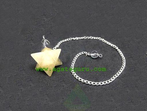 Yellow Aventurine Merkaba Dowsing Pendulum : Merkaba Star Wholesaler