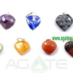 7 Chakra Heart Pendants Heart Cabochon Chakra Pendant for Sale