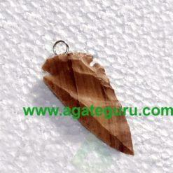 Agate Arrowhead Pendant