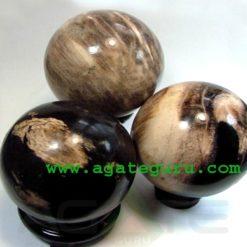 Petrified Wood Balls : Wholesale gemstone Balls : Wholesale spheres