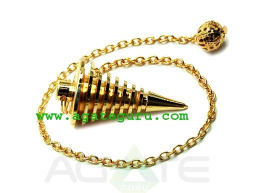 Golden Hard Coil pendulum Metal Pendulums