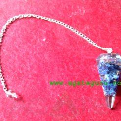 Lapis Lazuli Pendulum With Chakra Chain