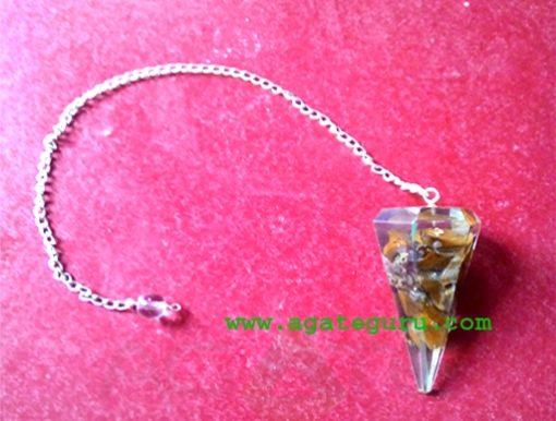 Tiger Eye Pendulum Orgonite Pendulum
