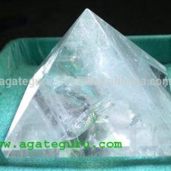 Clear Quartz healing Crystal Pyrimid : Wholesale Pyramids Khambhat Supplier