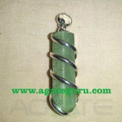 Green Aventurine Wire Wrapped Stone Pendants