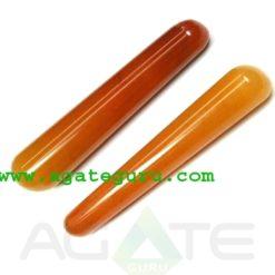 Orange Aventurine : Latest New Age Collection : Smooth massage wands