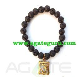 lava beads om bracelet : India wholesaler Manufacturer