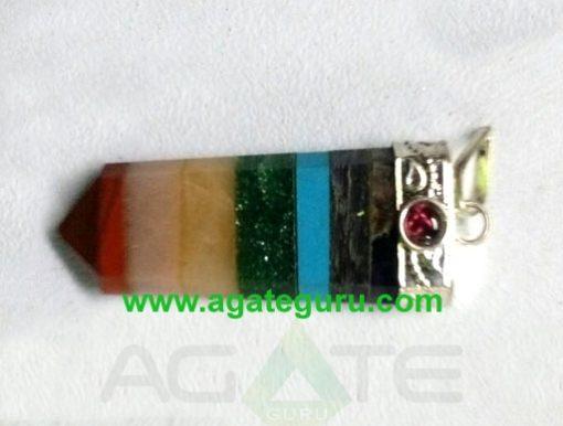 Bonded chakra Flat stick pendant Wholesale Chakra Pendants