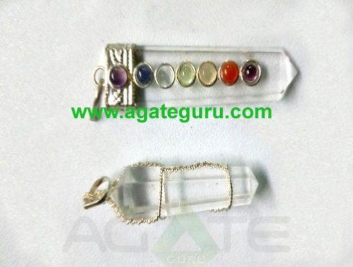 Crystal Quartz Hand Wrapped Pendant