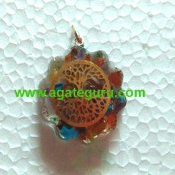7 chakra Flower of Life Stone Pendant