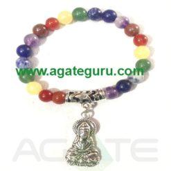 7 Chakra Beads Bracelet With Goddes