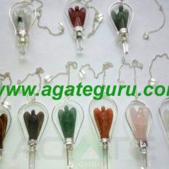 Mix Crystal Angels Pendulums : Wholesale Gemstone Angels