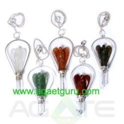Mix Crystal Angels Pendulums : Wholesale Gemstone Angel